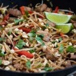 Stir Fry – Pork or Chicken with a twist, served with rice or noodles.